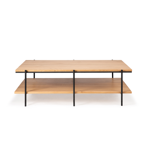 "Ethnicraft NV - Rise Coffee Table - Oak / 47"" Rectangle - Lekker Home"