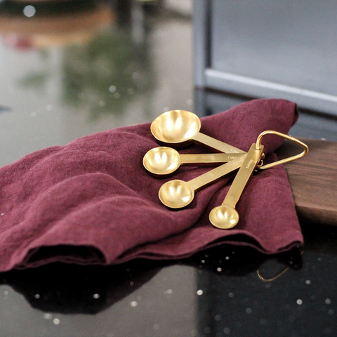 Be Home Decor - Gold Measuring Spoons - - Lekker Home