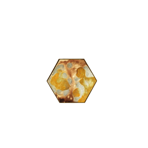 Notre Monde - Mini Hexagonal Tray - Yellow / Small - Lekker Home