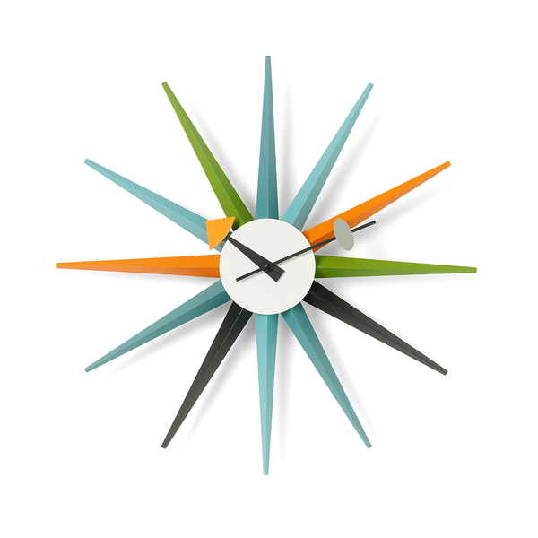 Vitra - Nelson™ Sunburst Clock - Multicolor / One Size - Lekker Home
