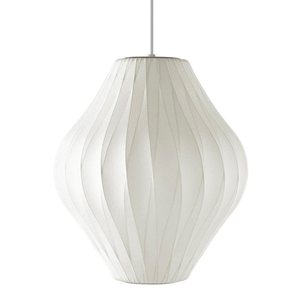 Herman Miller - Nelson™ Pear Crisscross Bubble Pendant - White / Medium - Lekker Home