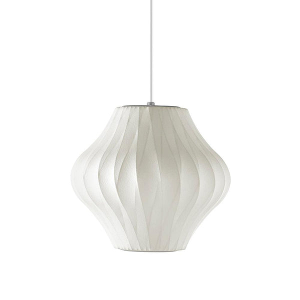 Herman Miller - Nelson™ Pear Crisscross Bubble Pendant - White / Small - Lekker Home