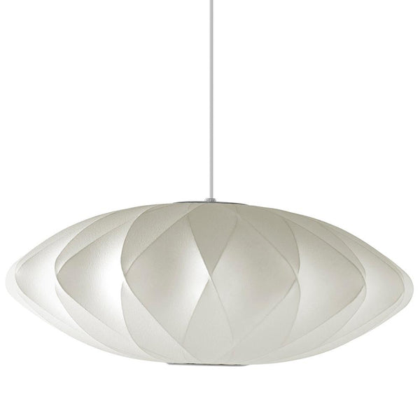 Herman Miller - Nelson™ Saucer Crisscross Bubble Pendant - White / Medium - Lekker Home