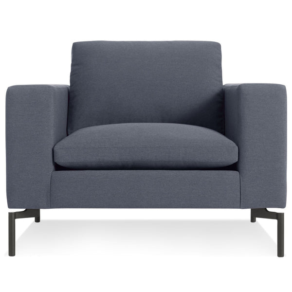 Blu Dot - New Standard Lounge Chair - Nixon Blue / Black - Lekker Home
