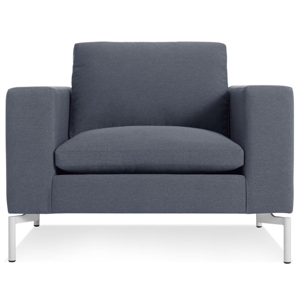 Blu Dot - New Standard Lounge Chair - Nixon Blue / White - Lekker Home