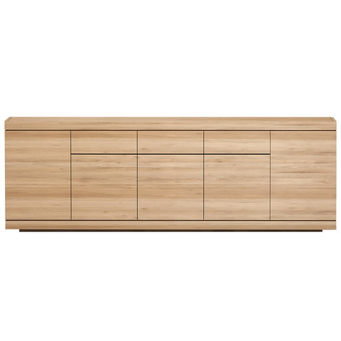 Ethnicraft NV - Burger Sideboard - Solid Oak / Four Doors - Lekker Home