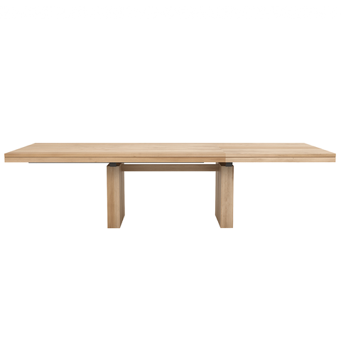 "Ethnicraft NV - Double Expandable Dining Table - Solid Oak / 79""-118"" - Lekker Home"