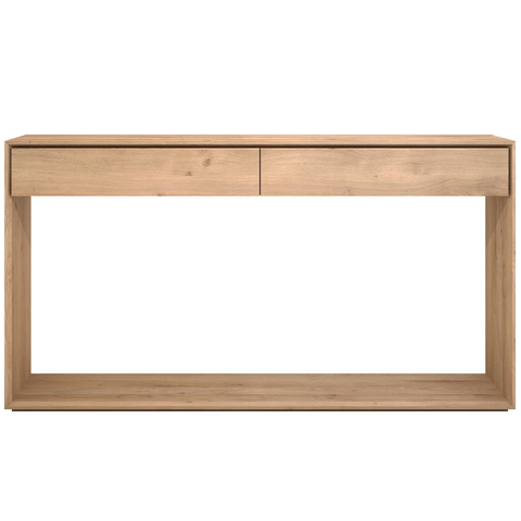 "Ethnicraft NV - Nordic Console - Solid Oak / 47"" Console - Lekker Home"