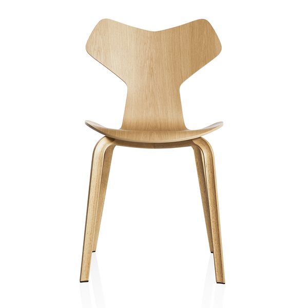 Fritz Hansen - Grand Prix™ Dining Chair - Oak / Wooden Legs - Lekker Home