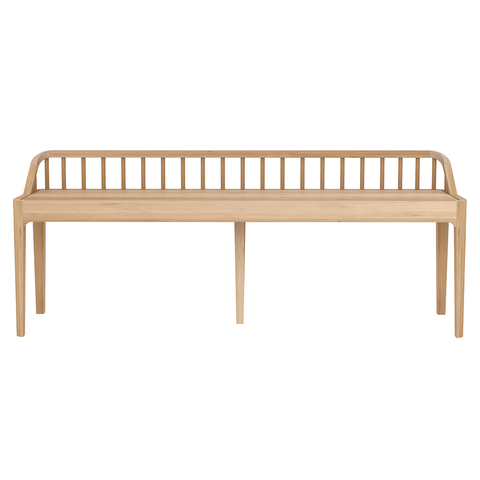 Ethnicraft NV - Spindle Bench - Solid Oak / One Size - Lekker Home