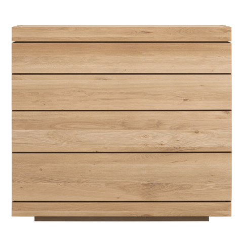 Ethnicraft NV - Burger Chest of Drawers - Solid Oak / Four Drawers - Lekker Home