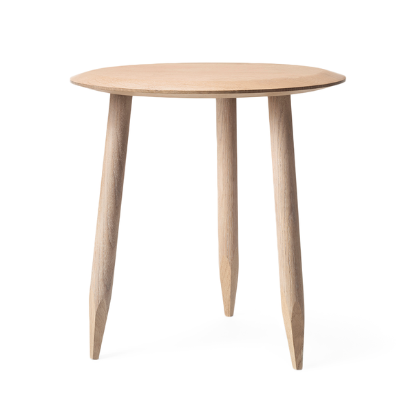 &Tradition - Hoof Side Table - White Oiled Oak / One Size - Lekker Home