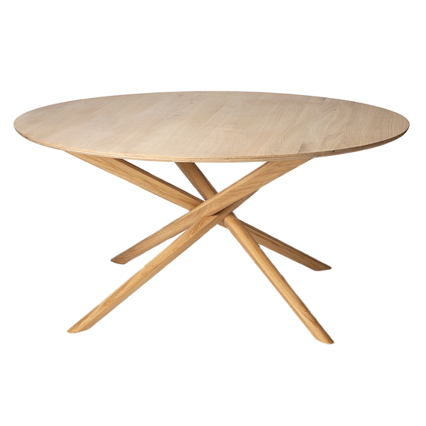 Ethnicraft NV - Mikado Round Dining Table - Default - Lekker Home