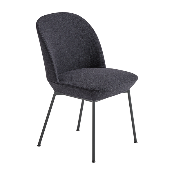 Muuto - Oslo Side Chair - Ocean 601 / Anthracite / One Size - Lekker Home