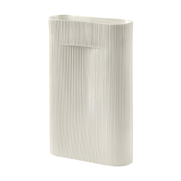 Muuto - Ridge Vase - Off-White / Large - Lekker Home
