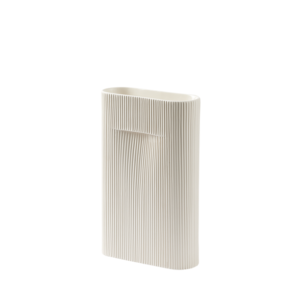 Muuto - Ridge Vase - Off-White / Small - Lekker Home