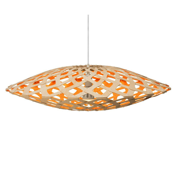 David Trubridge - Flax Pendant - Natural / Orange / 800 - Lekker Home