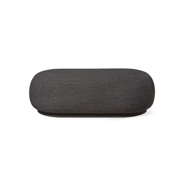 Ferm Living - Rico Ottoman - Dark Grey / One Size - Lekker Home