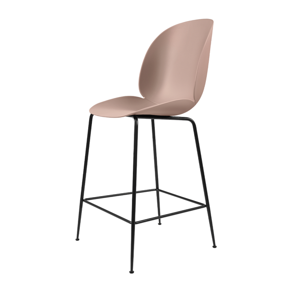 GUBI - Beetle Counter Stool - Sweet Pink / Matte Black - Lekker Home