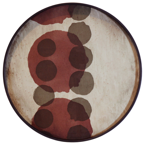 Ethnicraft NV - Layered Dots Round Tray - Lekker Home