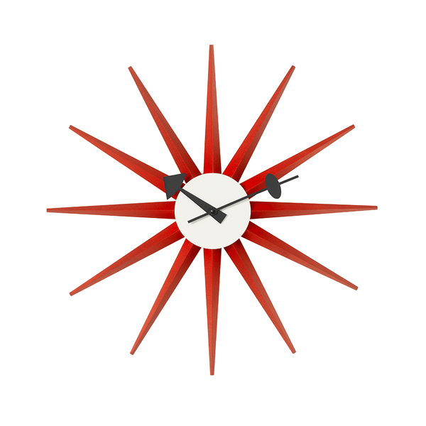 Vitra - Nelson™ Sunburst Clock - Red / One Size - Lekker Home