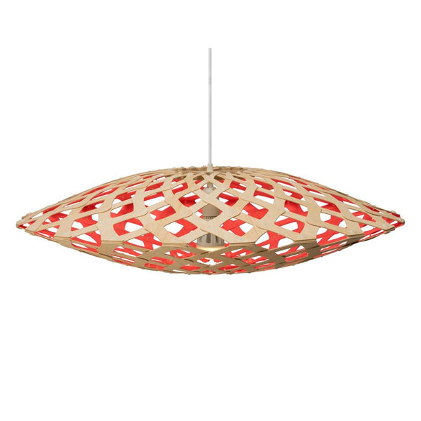 David Trubridge - Flax Pendant - Natural / Red / 800 - Lekker Home