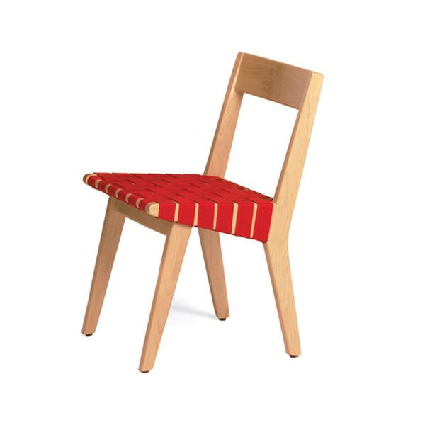 Knoll - Risom Child's Side Chair - Red / No Webbed Back - Lekker Home