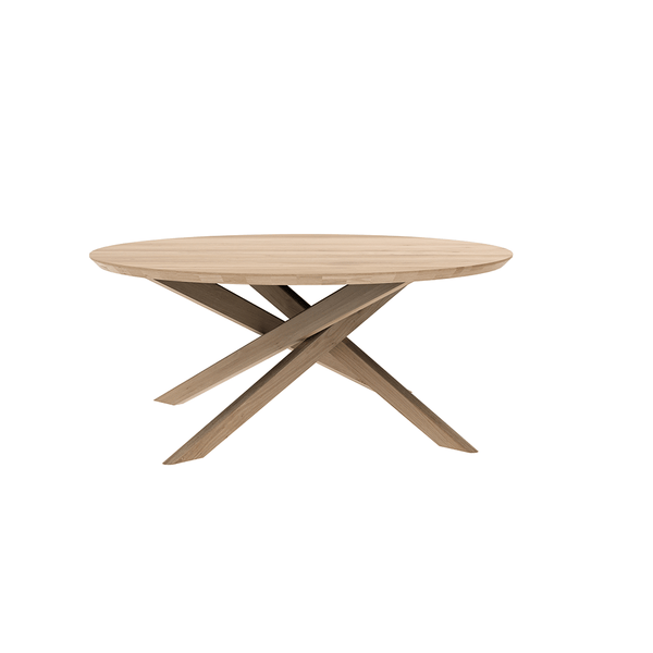 Ethnicraft NV - Mikado Coffee Table - Oak / Round - Lekker Home