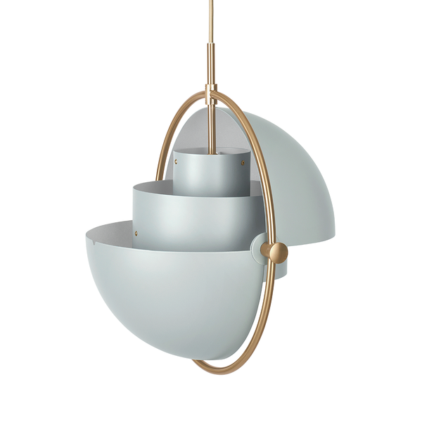 GUBI - Multi-Lite Pendant - Sea Grey Semi Matte + Brass / One Size - Lekker Home
