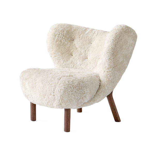 &Tradition - VB1 Little Petra Lounge Chair - Moonlight Sheepskin / Walnut - Lekker Home