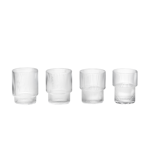 Ferm Living - Ripple Glass Set - Lekker Home