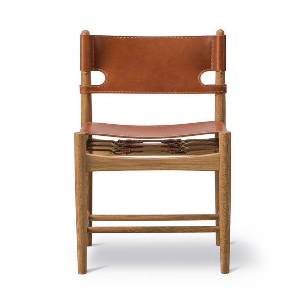 Fredericia - The Spanish Dining Chair - Cognac Leather / Soap Oak - Lekker Home