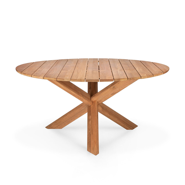 Ethnicraft NV - Teak Circle Outdoor Dining Table - Lekker Home