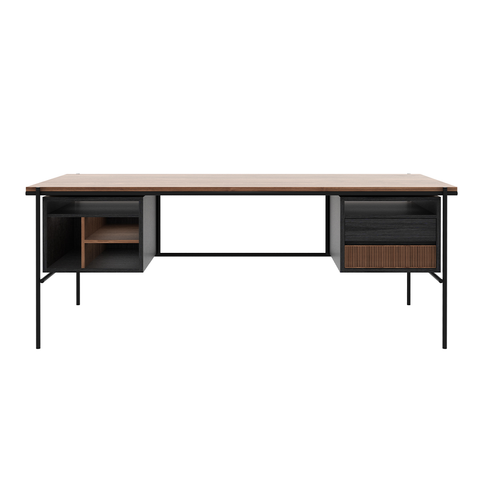 Ethnicraft NV - Oscar Desk with Drawers - - Lekker Home