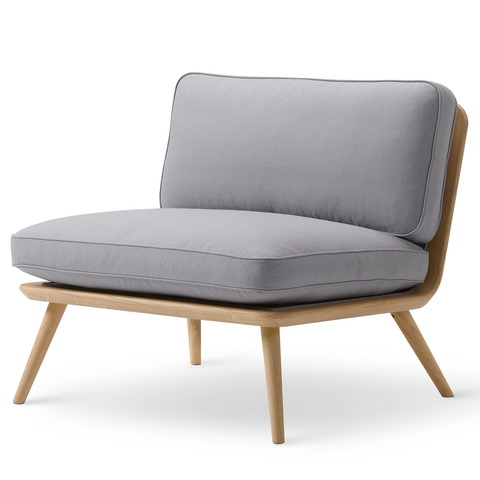 Fredericia - Spine Lounge Chair - Rime 981 / Black on Ash - Lekker Home