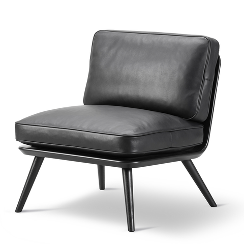 Fredericia - Spine Petite Lounge Chair - Rime 981 / Black on Ash - Lekker Home