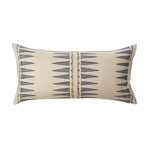 Coral & Tusk - Navy Quill Lumbar Cushion - Lekker Home