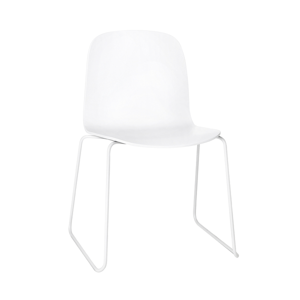 Muuto - Visu Chair - White / Sled - Lekker Home