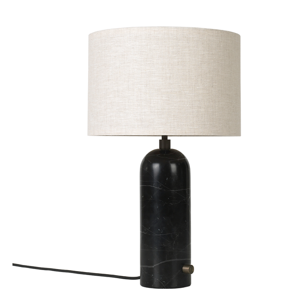 GUBI - Gravity Table Lamp - Black Marble Small / Canvas - Lekker Home