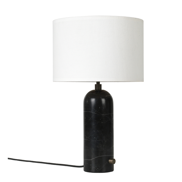 GUBI - Gravity Table Lamp - Black Marble Small / White - Lekker Home