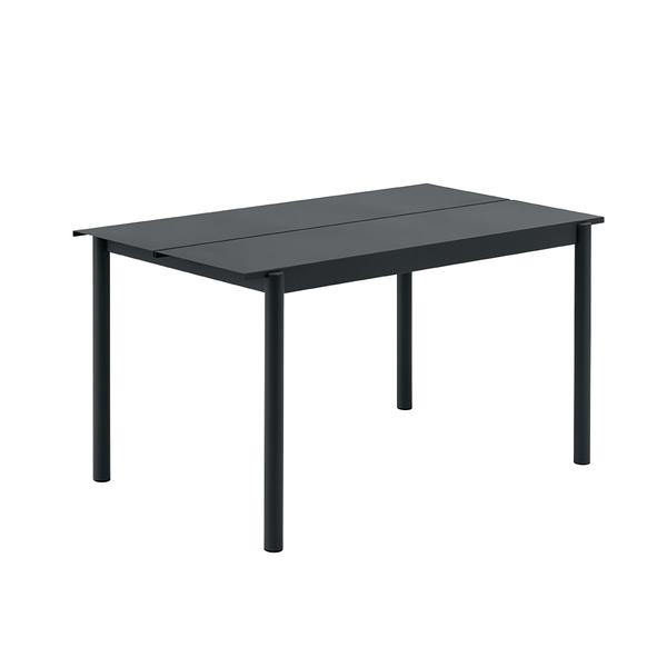 "Muuto - Linear Steel Table - Black / 55.1"" - Lekker Home"