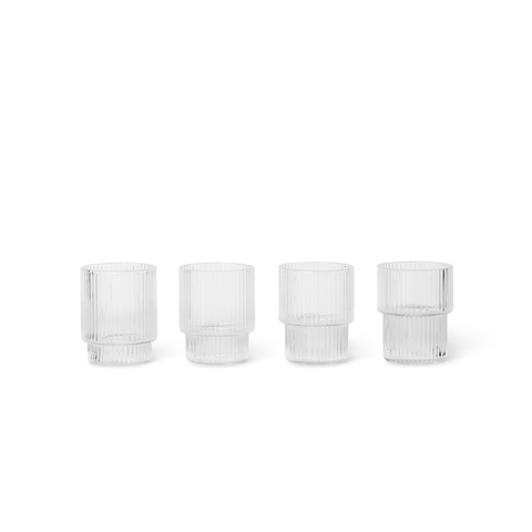 Ferm Living - Ripple Small Glass Set - Lekker Home