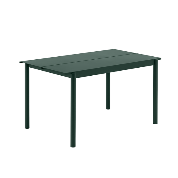 "Muuto - Linear Steel Table - Dark Green / 55.1"" - Lekker Home"