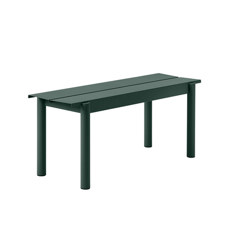 "Muuto - Linear Steel Bench - Dark Green / 43.4"" - Lekker Home"