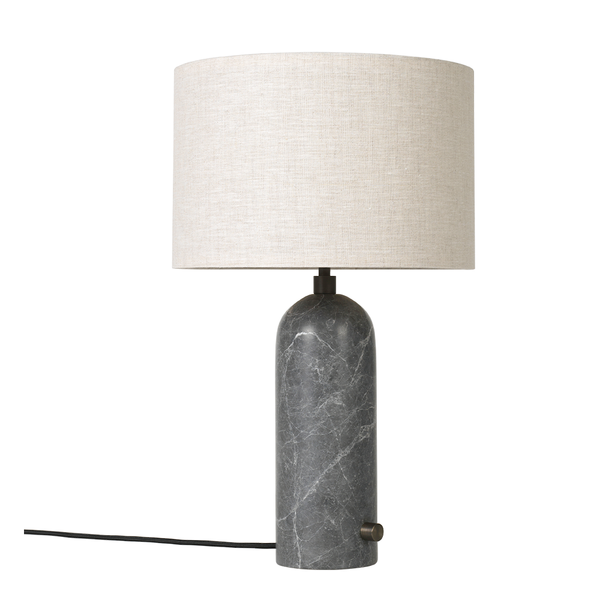 GUBI - Gravity Table Lamp - Grey Marble Small / Canvas - Lekker Home