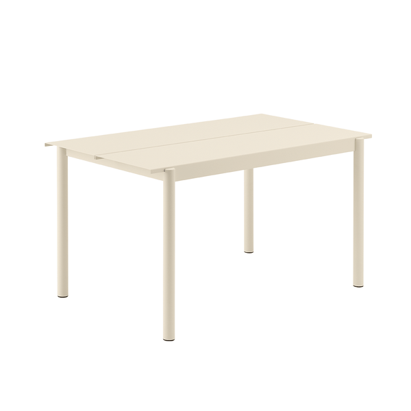 "Muuto - Linear Steel Table - White / 55.1"" - Lekker Home"