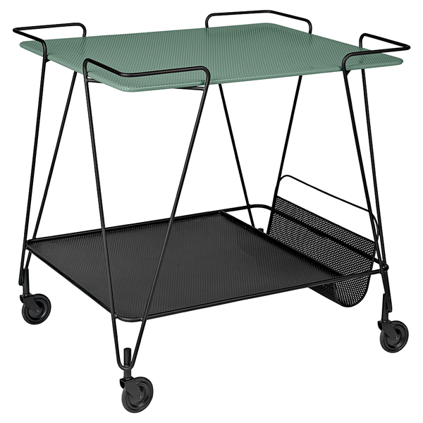 GUBI - Matégot Trolley - Smoke Green / One Size - Lekker Home