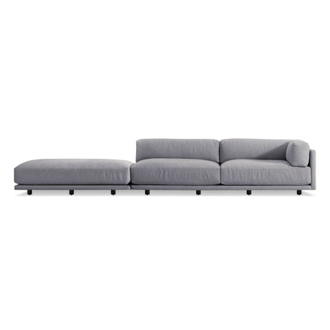 Blu Dot - Sunday Long and Low Sectional Sofa - Agnew Grey / Right-Facing - Lekker Home