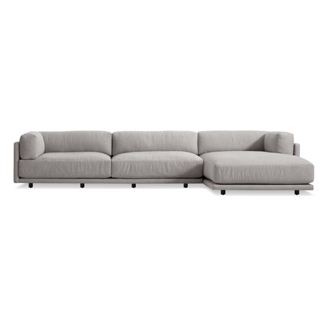 Blu Dot - Sunday Sofa w/ Chaise - Agnew Grey / Right-Facing - Lekker Home