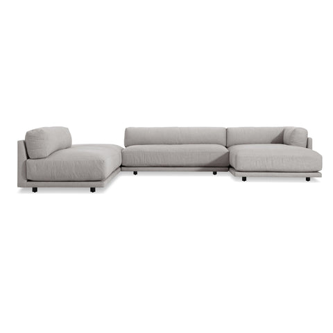 Blu Dot - Sunday J-Shaped Sectional Sofa - Agnew Grey / Right-Facing - Lekker Home